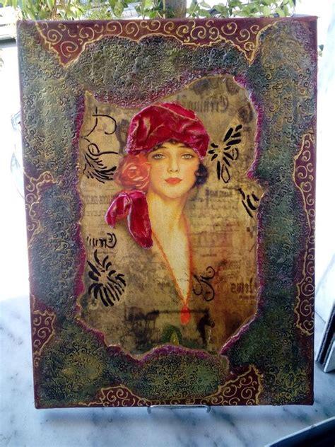 Decoupage On Canvas - meer dan 1000 idee 235 n decoupage canvas op