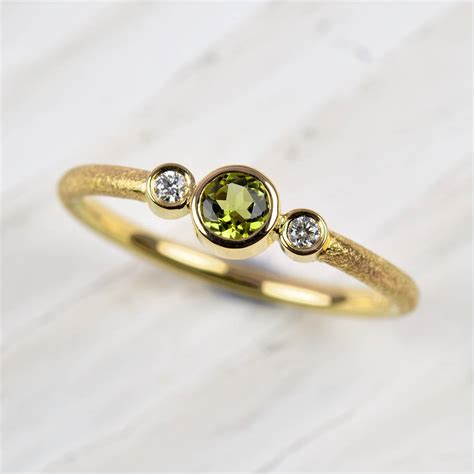 No Gold At Goldsmiths by 18ct Gold Peridot And Ring By Mh Goldsmith