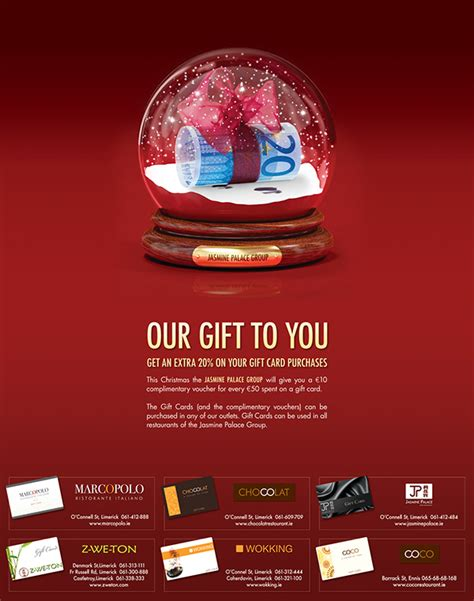 Restaurants That Offer E Gift Cards - print advertisement for restaurants gift card offer on behance