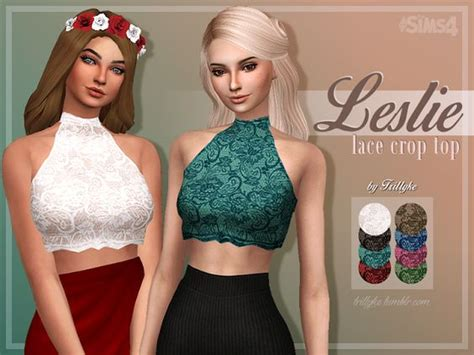 sims 4 cc crop tops lace sims 4 and sims on pinterest