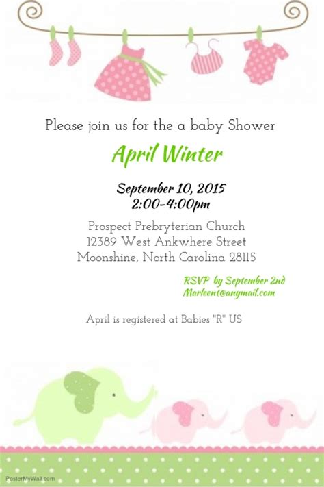 Baby Announcement Template Postermywall Baby Announcement Poster Template