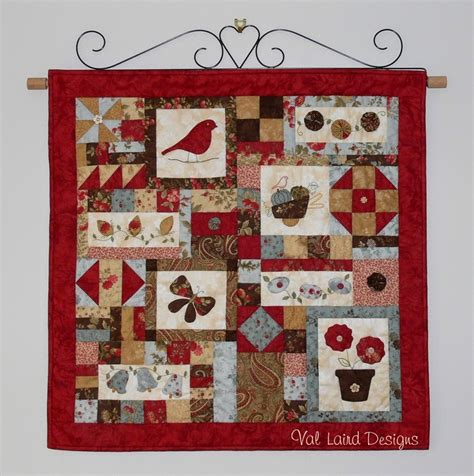 How To Make A Wall Hanging Quilt by Val Laird Designs Journey Of A Stitcher Free Pattern