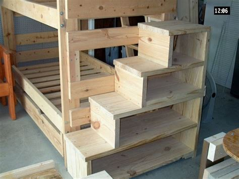 build   bunk bed  stairs woodworking projects
