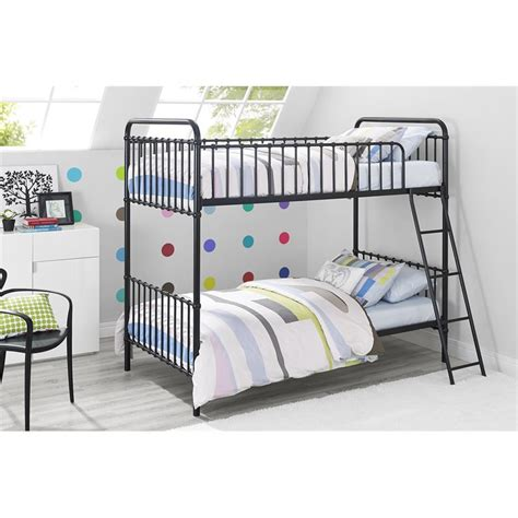 iron bunk beds iron twin bunk bed in black 3279096n
