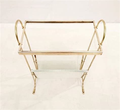 Table With L And Magazine Rack by Mid Century Side Table With Magazine Rack Italy At 1stdibs