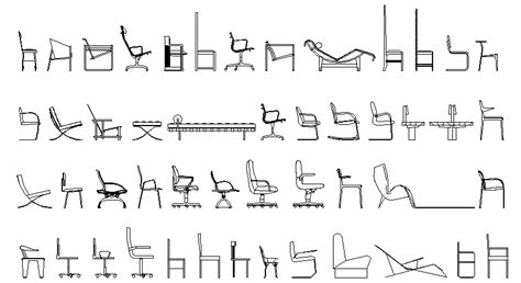 bloque autocad silla librer 237 as de bloques autocad sillas en alzado lateral
