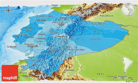 geographical map of ecuador political shades panoramic map of ecuador physical outside