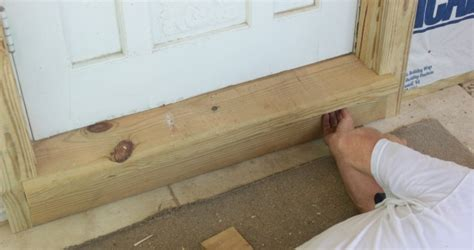Install Exterior Door Threshold Installing Exterior Wood Trim Around Windows And Doors
