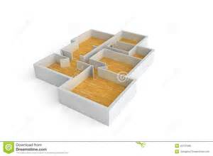 floorplan for a typical house or office building wooden