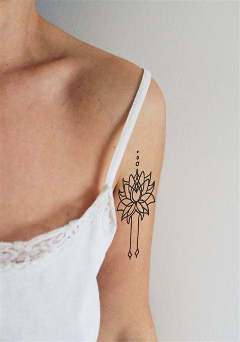 tattoo lotus epaule set lotus temporary tattoo boho temporary tattoo