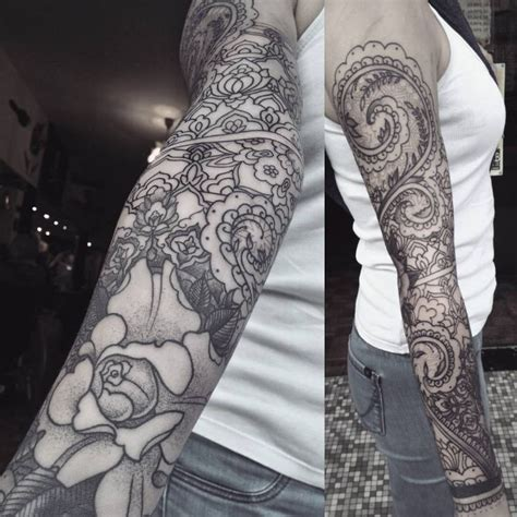 Tattoos Arm 5414 by Henna Sleeve By Krofty At The Tattooed Arms Alex