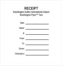 blank taxi receipt template taxi receipt template 17 free for word pdf