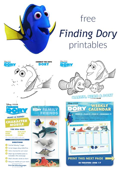Finding For Free Print These Free Finding Dory Printables For Summer