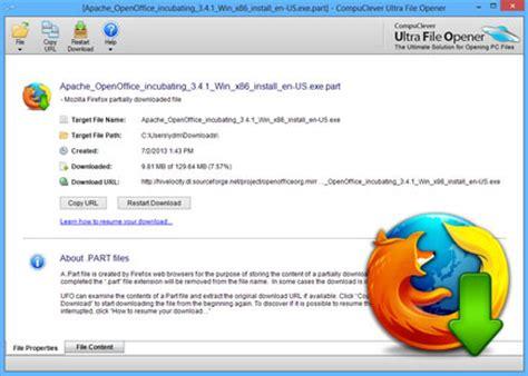 open firefox .part file | ultra file opener