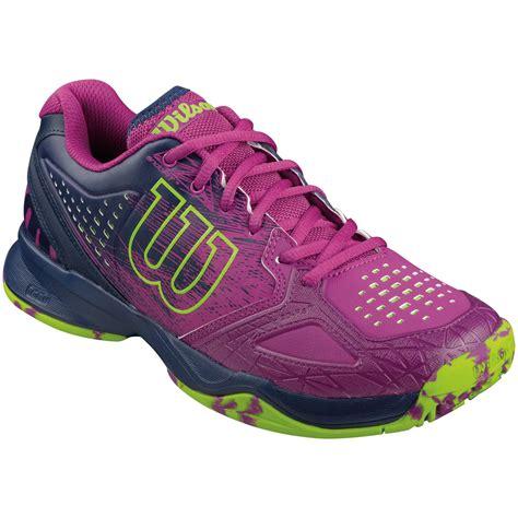 wilson womens kaos comp all court tennis shoes pink