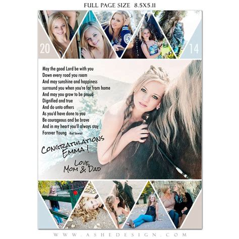 Senior Yearbook Ads Photoshop Templates Pennant By Ashedesign Yearbook Pinterest High Yearbook Collage Template