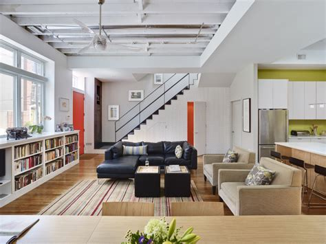 Living Room Warehouse | warehouse conversion contemporary living room