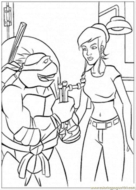 tmnt coloring pages pdf coloring pages april with donatello cartoons gt ninja