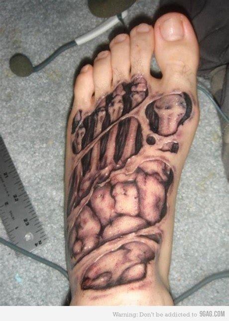 biomechanical tattoo foot 3d biomechanical tattoo on foot tattooshunt com