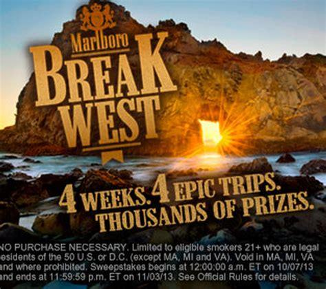 Marlboro Instant Win Game - free marlboro break west instant win game 18 000 winners hammocks and tens solar