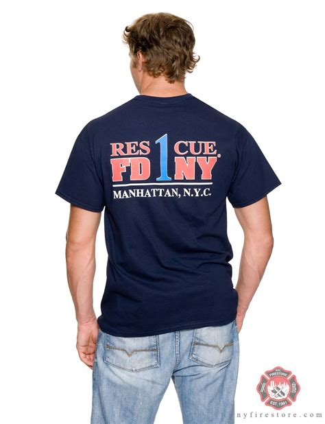 T Shirt 1 fdny firefighter shirts patches and pins fdny rescue 1