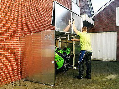 secure bike shed ideas    globe bike