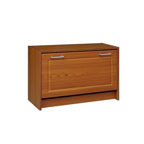 home depot shoe cabinet 4d concepts 29 in w oak single shoe cabinet 76157f the