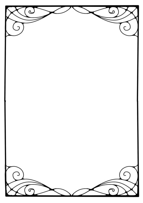 printable art deco borders art nouveau frame cliparts co