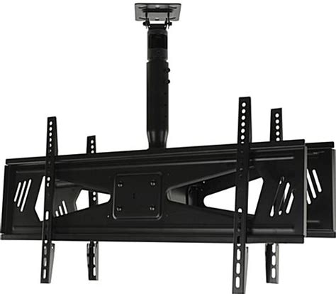 Dual Monitor Ceiling Mount by Dual Monitor Ceiling Mount Height Adjusting With Tilt