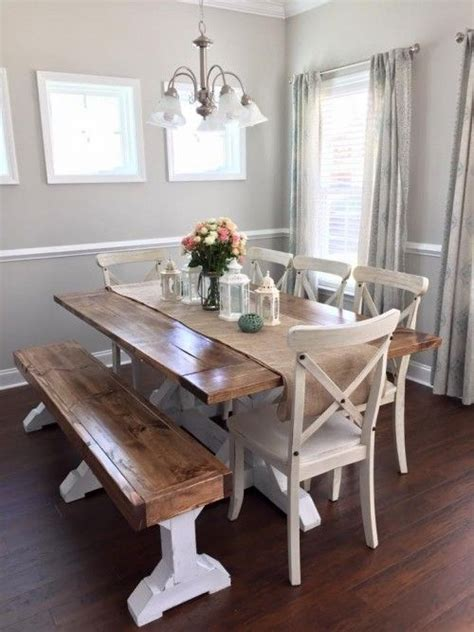 Bench Style Kitchen Table by Lovely Wood Kitchen Table Farm Style Dining Room Table