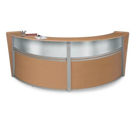 Silver Reception Desk by Unit Reception Desk In Maple Finish With Plexi