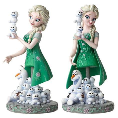 frozen fever elsa and olaf grand jester mini bust enesco