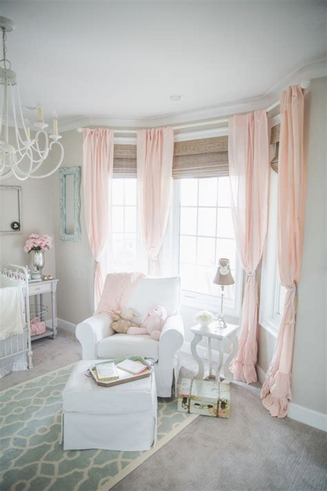 Pale Pink Curtains Decor Blushing Pink Nurseries Project Nursery