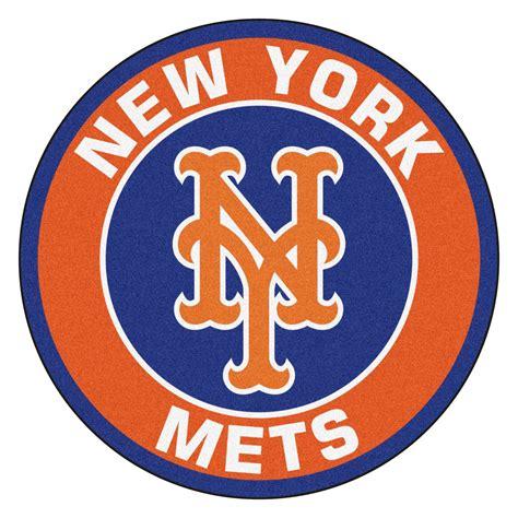 new york mets logo roundel mat 27 quot area rug
