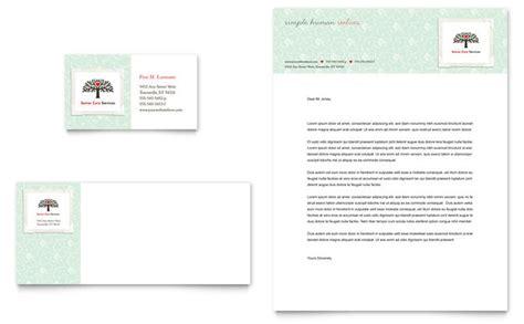 caign cards template senior care services business card letterhead template