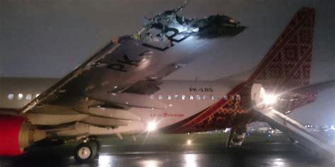 batik air hlp jog breaking ground collision during take off between boeing