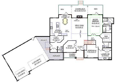 house plans with angled garage angled ranch style house plans house pinterest