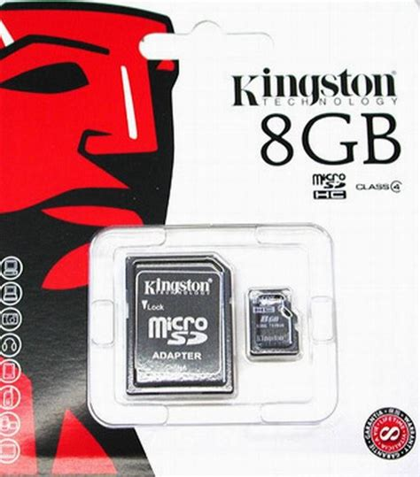 Nds Memory 8gb kingston 8gb micro sd memory card