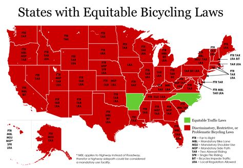 united states map showing arkansas u s bicycle laws by state i am traffic