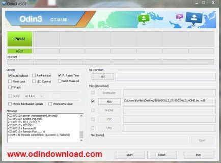 android odin samsung odin android odin versi 3 10 7 for windows info tips trik android