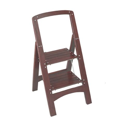 2 Step Wooden Step Stool by Rockford Two Step Wooden Step Stool Mahogany In Step Stools