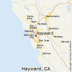 map of hayward california best places to live in hayward california