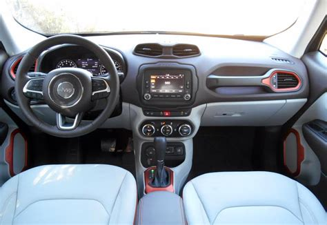 jeep renegade leather interior first spin 2015 jeep renegade the daily drive