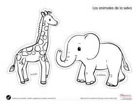 printable animal outlines jungle animals 2s printables