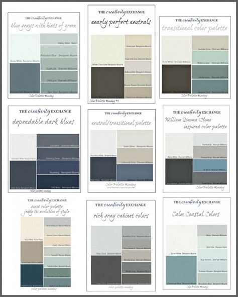 paint color palettes on warm gray paint