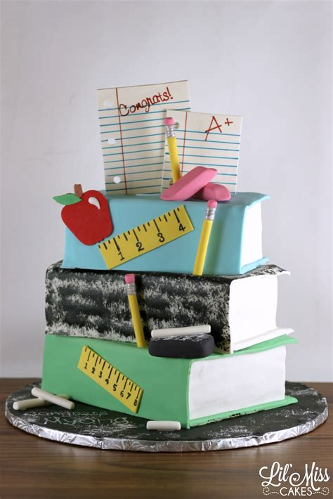 book stacking ideas stacked book teachers retirement cake lil miss cakes