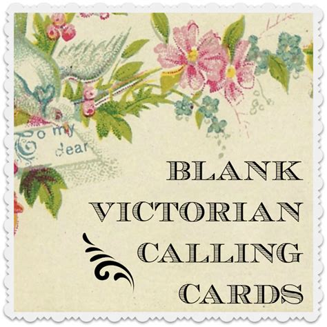 victoarian place cards template free make your own calling card free and
