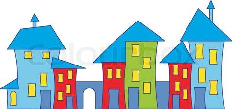 free cartoon house pictures house cartoon vector cartoon town house colorful houses vector stock vector