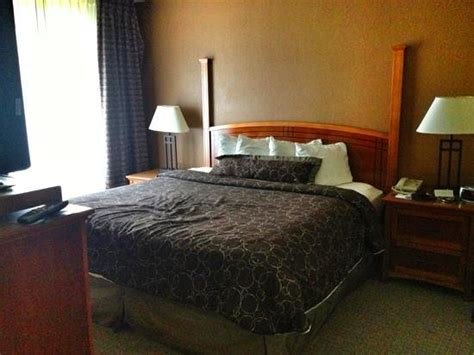 king size bed in a 2 bedroom suite picture of staybridge suites portland airport portland