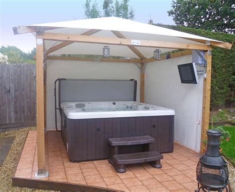 Bc Awnings Backyard Tub On Pinterest Tubs Gazebo And